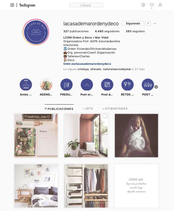 instagram-la-casa-de-mar-orden-y-deco, instagram, la casa de Mar Orden y deco, Mar Vidal, redes sociales, RRSS