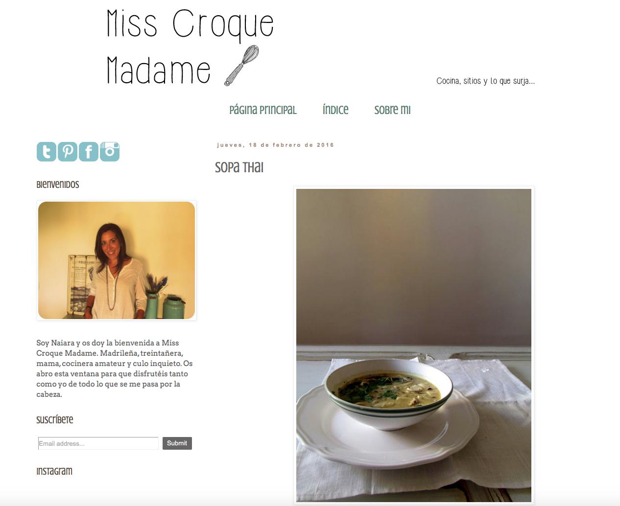 miss croquet madame, blog, cocina, recetas, persistencia o cambio, mar vidal, blogs que seguir