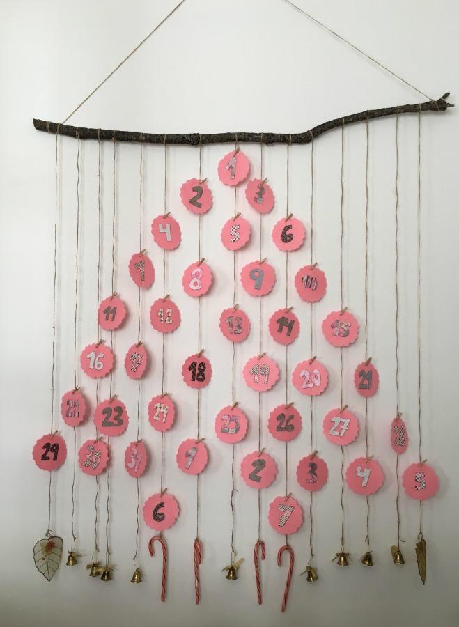 calendario de adviento, diy, navidad, xmas